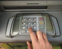 Gotówkowej aptekarki keybord z czeskiej i języka angielskiego inskrypcją Zdjęcie Royalty Free