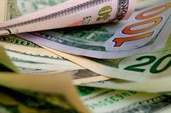 Gotówkowi USA dolary zdjęcie stock
