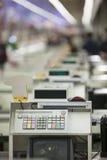 Gotówkowy biurko z Terminal Zdjęcia Stock