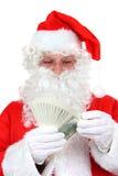 gotówkowy Claus Santa Fotografia Royalty Free