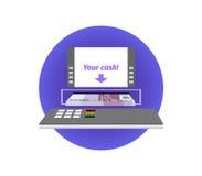 Gotówkowy wycofanie od ATM Fotografia Royalty Free