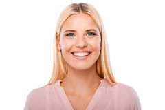 She got beautiful smile. Stock Photography