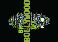 Got Bollywood Word Cloud Concept Stock Photo