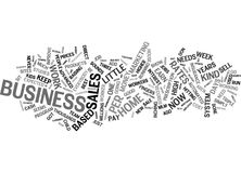 Got A Busy Life You Need A Home Based Business Word Cloud Concept Stock Photo