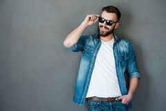 He got charming personality. Royalty Free Stock Images