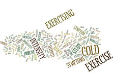 Got A Cold Should You Work Out Word Cloud Concept. Got A Cold Should You Work Out Text Background Word Cloud Concept Stock Image