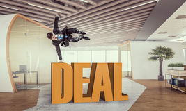 He is got the deal . Mixed media Stock Photography