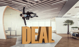He is got the deal . Mixed media Royalty Free Stock Photos