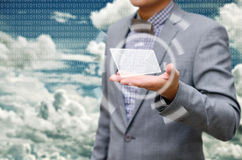 Got email from cloud computing Stock Images