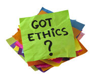 Got ethics? royalty free stock images