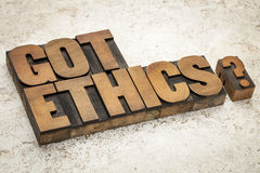 Got ethics question Stock Photo