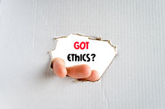 Got ethics text concept Royalty Free Stock Image