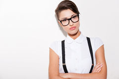 She got her own style. Royalty Free Stock Image
