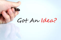 Got An Idea Concept Royalty Free Stock Photos