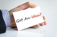Got An Idea Concept Stock Photography