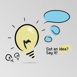 Got an idea? Say it! Stock Photo