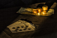 Got the luck?. This is a royal flush on poker Royalty Free Stock Photography