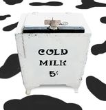 Got Milk?. A photo of an old milk cooler Royalty Free Stock Image