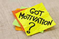 Got motivation question Stock Images