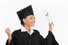 Got my degree. Royalty Free Stock Photography
