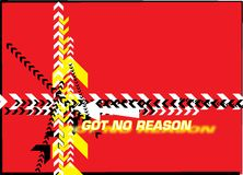 Got no reason. Arrows on a red background royalty free illustration
