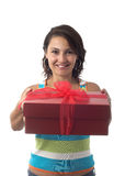 Got a present Royalty Free Stock Image