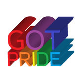 Got Pride Banner Stock Image