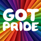 Got Pride Banner. With Rainbow Colorful Theme. Stop Homophobia. Vector Stock Images