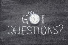 Got questions watch stock image