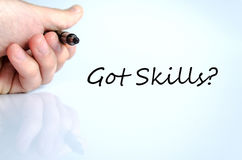 Got skills concept royalty free stock images