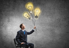 He is got some bright ideas Royalty Free Stock Image