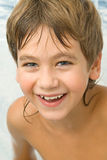 Got wet smiling boy Royalty Free Stock Photos