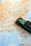 Road trip through North America concept stock image