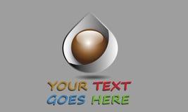 Gota abstrata Logo Template Fotografia de Stock Royalty Free