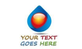 Gota abstrata Logo Template da água Foto de Stock