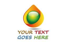 Gota alaranjada abstrata Logo Template Imagem de Stock