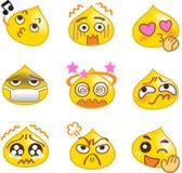 A gota amarela dos Emoticons ajustou 1 Fotografia de Stock