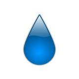 Gota azul [01] Imagens de Stock Royalty Free