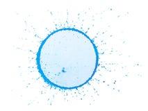 Gota azul Fotos de archivo