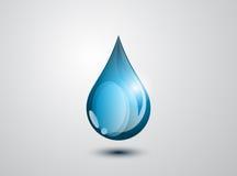 A gota azul Imagens de Stock