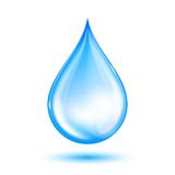 Gota brilhante azul da água ilustração stock