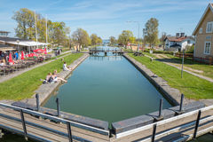 Gota Canal during spring in Sweden Stock Images
