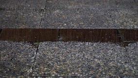 A gota, chuva deixa cair o fundo vídeos de arquivo