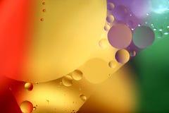 Gota coloreada Imagen de archivo libre de regalías