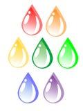 Gota colorida da água (vetor) Imagem de Stock