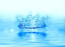 Gota congelada da água imagens de stock