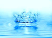 Gota congelada del agua imagenes de archivo