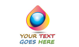 Gota cor-de-rosa abstrata Logo Template Imagens de Stock Royalty Free