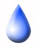 Gota da água azul Foto de Stock Royalty Free