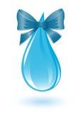 Gota da água com fita Foto de Stock Royalty Free
